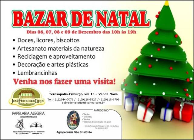 Panfleto Bazar Natal - 2012