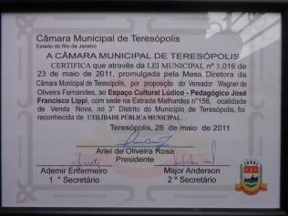 Certificado de utilidade pública municipal.
