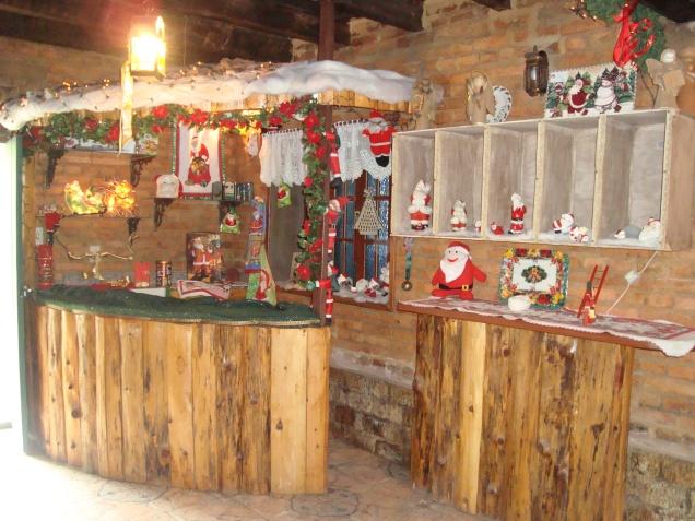Café ambientado para o Natal